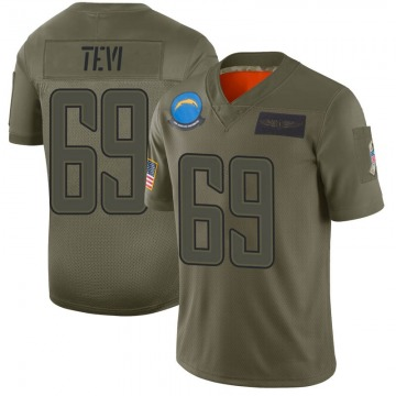 Youth Nike Los Angeles Chargers Sam Tevi Camo 2019 Salute to Service Jersey - Limited