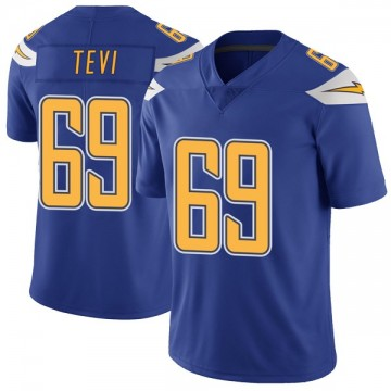 Youth Nike Los Angeles Chargers Sam Tevi Royal Color Rush Vapor Untouchable Jersey - Limited
