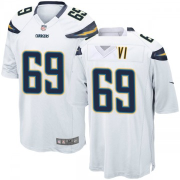 Youth Nike Los Angeles Chargers Sam Tevi White Jersey - Game