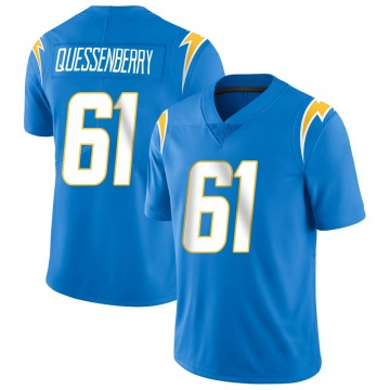 Youth Nike Los Angeles Chargers Scott Quessenberry Blue Powder Vapor Untouchable Alternate Jersey - Limited