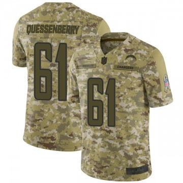 Youth Nike Los Angeles Chargers Scott Quessenberry Camo 2018 Salute to Service Jersey - Limited