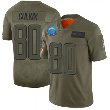 Youth Nike Los Angeles Chargers Sean Culkin Camo 2019 Salute to Service Jersey - Limited