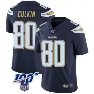 Youth Nike Los Angeles Chargers Sean Culkin Navy 100th Vapor Jersey - Limited