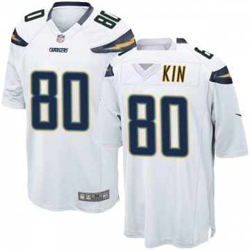 Youth Nike Los Angeles Chargers Sean Culkin White Jersey - Game