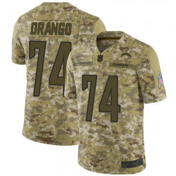 Youth Nike Los Angeles Chargers Spencer Drango Camo 2018 Salute to Service Jersey - Limited