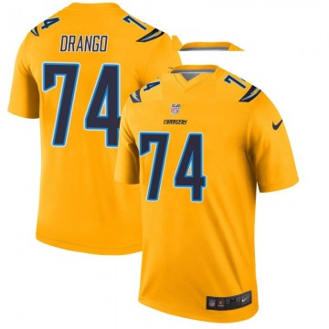 Youth Nike Los Angeles Chargers Spencer Drango Gold Inverted Jersey - Legend