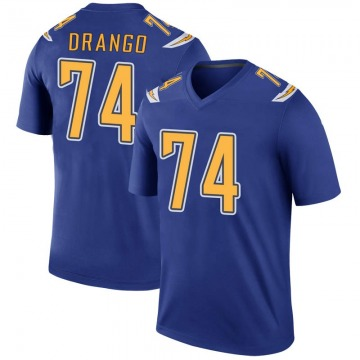 Youth Nike Los Angeles Chargers Spencer Drango Royal Color Rush Jersey - Legend
