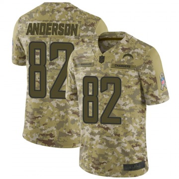 Youth Nike Los Angeles Chargers Stephen Anderson Camo 2018 Salute to Service Jersey - Limited