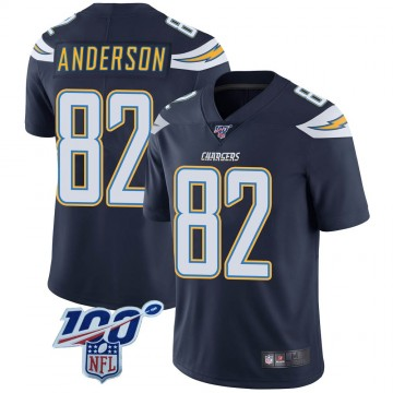 Youth Nike Los Angeles Chargers Stephen Anderson Navy 100th Vapor Jersey - Limited