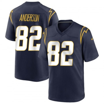Youth Nike Los Angeles Chargers Stephen Anderson Navy Team Color Jersey - Game