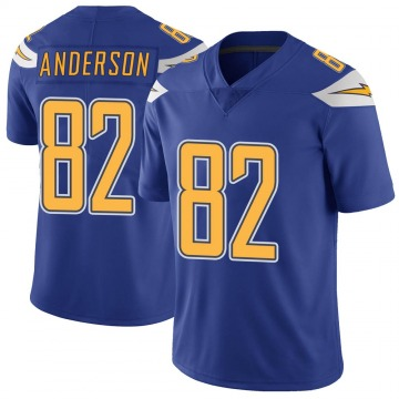 Youth Nike Los Angeles Chargers Stephen Anderson Royal Color Rush Vapor Untouchable Jersey - Limited