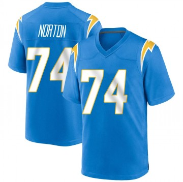 Youth Nike Los Angeles Chargers Storm Norton Blue Powder Alternate Jersey - Game