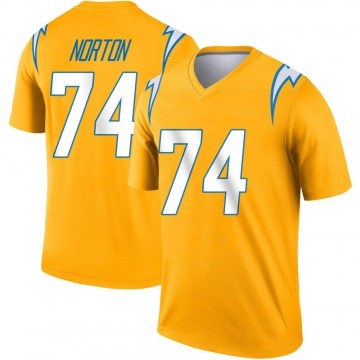 Youth Nike Los Angeles Chargers Storm Norton Gold Inverted Jersey - Legend