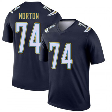 Youth Nike Los Angeles Chargers Storm Norton Navy Jersey - Legend
