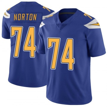 Youth Nike Los Angeles Chargers Storm Norton Royal Color Rush Vapor Untouchable Jersey - Limited