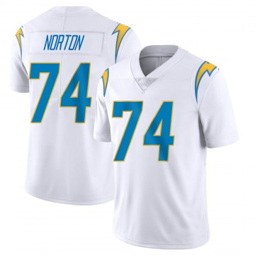 Youth Nike Los Angeles Chargers Storm Norton White Vapor Untouchable Jersey - Limited