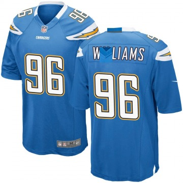 Youth Nike Los Angeles Chargers Sylvester Williams Blue Powder Alternate Jersey - Game