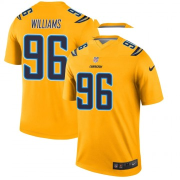 Youth Nike Los Angeles Chargers Sylvester Williams Gold Inverted Jersey - Legend