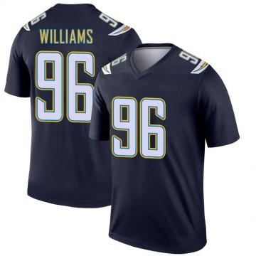 Youth Nike Los Angeles Chargers Sylvester Williams Navy Jersey - Legend