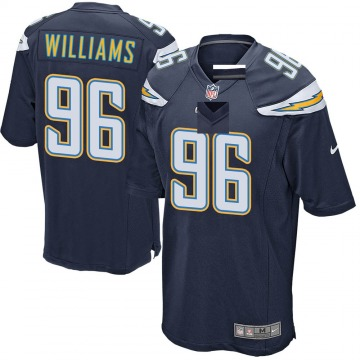 Youth Nike Los Angeles Chargers Sylvester Williams Navy Team Color Jersey - Game