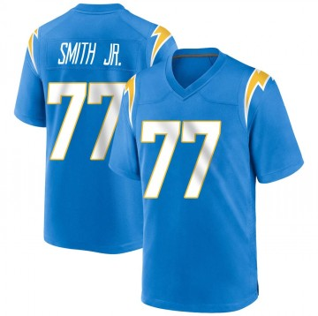 Youth Nike Los Angeles Chargers T.J. Smith Blue Powder Alternate Jersey - Game