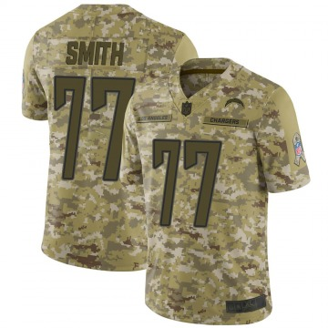 Youth Nike Los Angeles Chargers T.J. Smith Camo 2018 Salute to Service Jersey - Limited