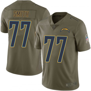 Youth Nike Los Angeles Chargers T.J. Smith Green 2017 Salute to Service Jersey - Limited