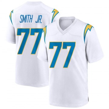 Youth Nike Los Angeles Chargers T.J. Smith White Jersey - Game