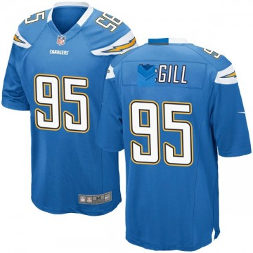 Youth Nike Los Angeles Chargers T.Y. McGill Blue Powder Alternate Jersey - Game