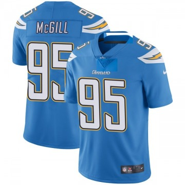 Youth Nike Los Angeles Chargers T.Y. McGill Blue Powder Vapor Untouchable Alternate Jersey - Limited