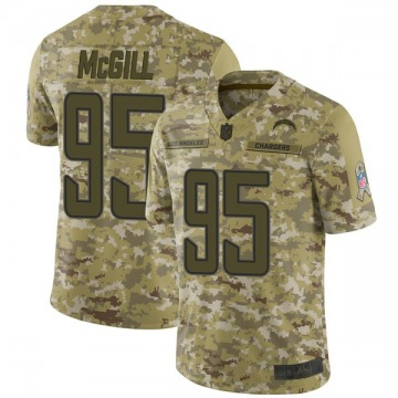 Youth Nike Los Angeles Chargers T.Y. McGill Camo 2018 Salute to Service Jersey - Limited