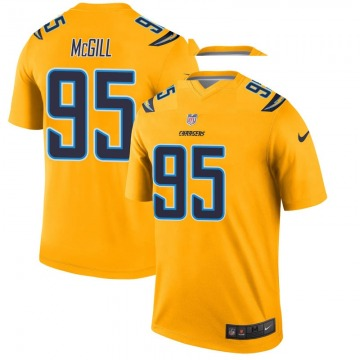 Youth Nike Los Angeles Chargers T.Y. McGill Gold Inverted Jersey - Legend
