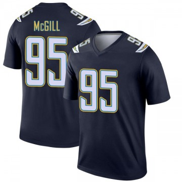Youth Nike Los Angeles Chargers T.Y. McGill Navy Jersey - Legend