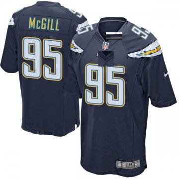 Youth Nike Los Angeles Chargers T.Y. McGill Navy Team Color Jersey - Game
