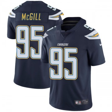 Youth Nike Los Angeles Chargers T.Y. McGill Navy Team Color Vapor Untouchable Jersey - Limited