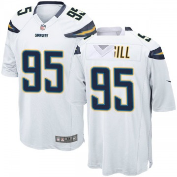 Youth Nike Los Angeles Chargers T.Y. McGill White Jersey - Game