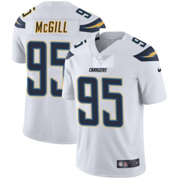 Youth Nike Los Angeles Chargers T.Y. McGill White Vapor Untouchable Jersey - Limited