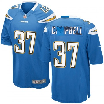 Youth Nike Los Angeles Chargers Tevaughn Campbell Blue Powder Alternate Jersey - Game