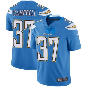 Youth Nike Los Angeles Chargers Tevaughn Campbell Blue Powder Vapor Untouchable Alternate Jersey - Limited