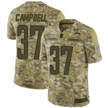 Youth Nike Los Angeles Chargers Tevaughn Campbell Camo 2018 Salute to Service Jersey - Limited