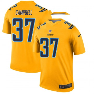Youth Nike Los Angeles Chargers Tevaughn Campbell Gold Inverted Jersey - Legend