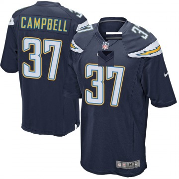 Youth Nike Los Angeles Chargers Tevaughn Campbell Navy Team Color Jersey - Game