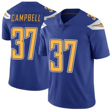 Youth Nike Los Angeles Chargers Tevaughn Campbell Royal Color Rush Vapor Untouchable Jersey - Limited