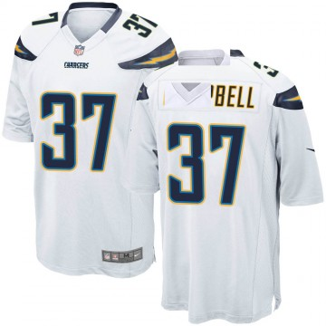 Youth Nike Los Angeles Chargers Tevaughn Campbell White Jersey - Game