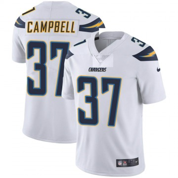 Youth Nike Los Angeles Chargers Tevaughn Campbell White Vapor Untouchable Jersey - Limited