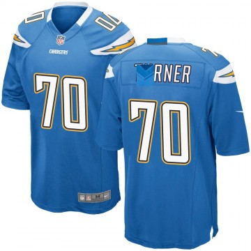 Youth Nike Los Angeles Chargers Trai Turner Blue Powder Alternate Jersey - Game