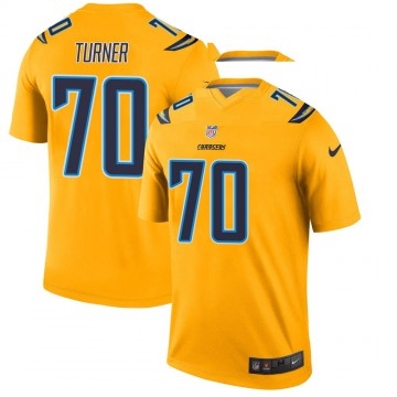 Youth Nike Los Angeles Chargers Trai Turner Gold Inverted Jersey - Legend