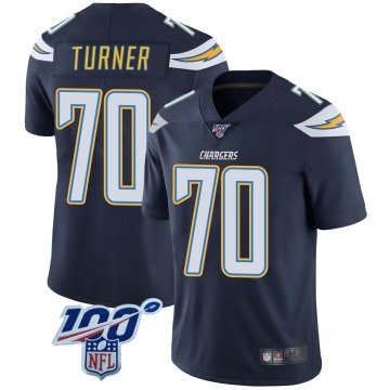 Youth Nike Los Angeles Chargers Trai Turner Navy 100th Vapor Jersey - Limited