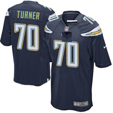 Youth Nike Los Angeles Chargers Trai Turner Navy Team Color Jersey - Game