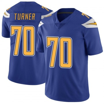 Youth Nike Los Angeles Chargers Trai Turner Royal Color Rush Vapor Untouchable Jersey - Limited
